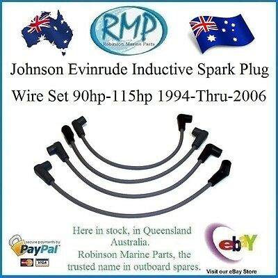 4 x New Inductive Spark Plug Leads Johnson Evinrude 90hp-115hp # 931-4922 KIT