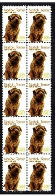 Norfolk Terrier Year Of The Dog Strip Of 10 Mint Stamps 2