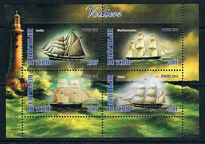 Bloc Sheet Bateau Voiliers Boat Neuf MNH ** Tchad 2013 Private local/issue