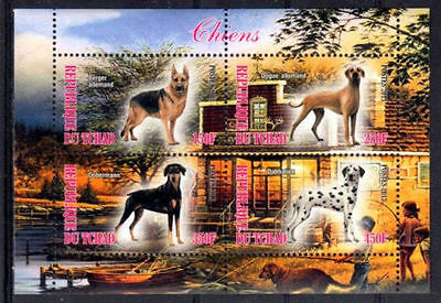Bloc Sheet Chiens Dogs Neuf MNH ** Tchad 2013 Private local/issue