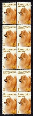 Pomeranian Year Of The Dog Strip Of 10 Mint Stamps 1