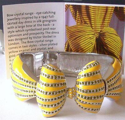 Sale *** V&a - The Victoria And Albert Museum Yellow Enamel Bow Bangle Rrp £220