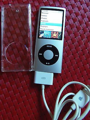 APPLE IPOD NANO GRIS + coque de protection