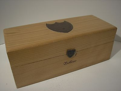 Wooden Box For Bottle Of Champagne Dom Perignon Of 1962.