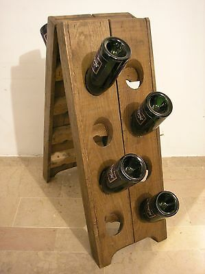 Champagne bottle holder in solid oak. Riddling rack .Wine rack.Porte bouteilles.