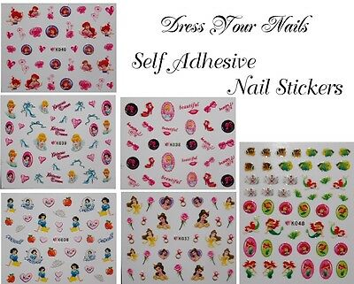 Cartoon Nail Stickers – Childrens, Self Adhesive Nail Art Disney + Princess