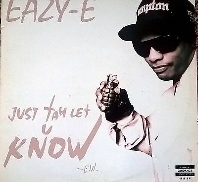 """Eazy-E Just Tah Let U Know 12"""" Ruthless Records Rare"""