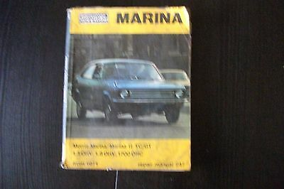 Morris Marina 1.8 plus Marina all models handbooks .1971-78