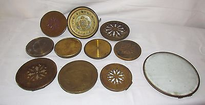 Job Lot Of 11 x French Front & Back Antique Clock Doors