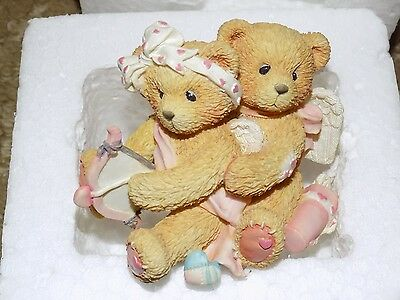 Cherished Teddies AIMING FOR YOUR HEART 1994 LAST ONE HTF MIB