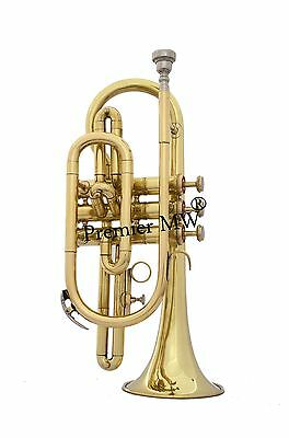 New Year Sale New Cornet Bb Pitch Brass Polished W/ H Case+*mp+ Price Reduced
