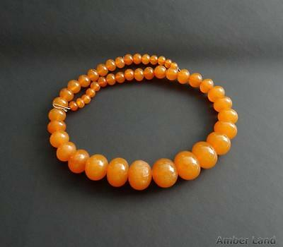 PRESSED Baltic Amber Beautiful Vintage Necklace Beads 32 g #A796