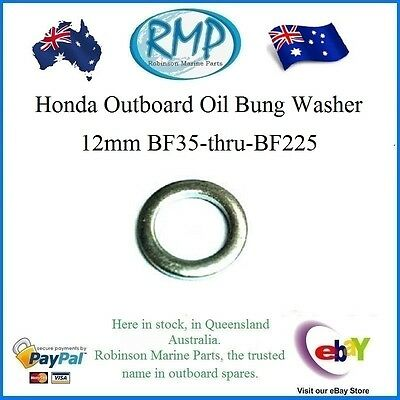 A Brand New Oil Bung Washer 12mm Honda Ourboards BF35-thru-BF225 # 90601-ZE2-000