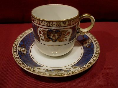 Beautiful 1920's Noritake Porcelain Cabinet Cup And Saucer Lovely Pattern