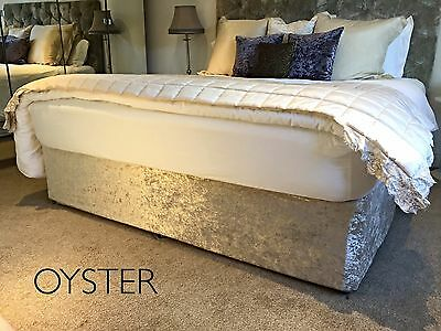 Crushed Velvet Elasticated Bed Valance /Divan Base Cover - 12 colours, all sizes