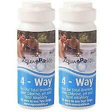 Aqauasparkle 4 Way Chlorine Or Bromine Test Strips For Pools, Spa And Hot Tubs