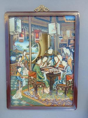 Antique Chinese Painting on Glass