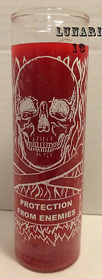 Protection From Enemies, Red, 7 Day Candle, Lunari13, Spells, Rituals, Wicca