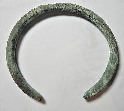 Zurqieh - Ancient Holy Land , Iron Age Bronze Bracelet. 1000 B.c