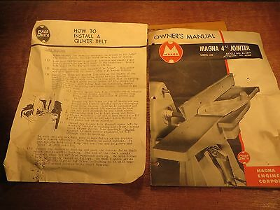 """SHOPSMITH - MAGNA 4"""" Jointer - Model 620 - Article # 84-3449 - Accessory # 62000"""