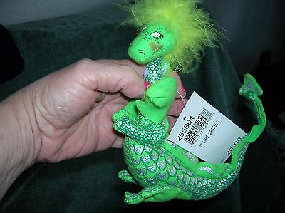 RARE 2004 ANNALEE 7inch Lime dragon with tag