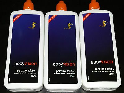 Specsavers Easyvision Peroxide Solution 3 X 250Ml Brand New & Sealed Expiry 2018