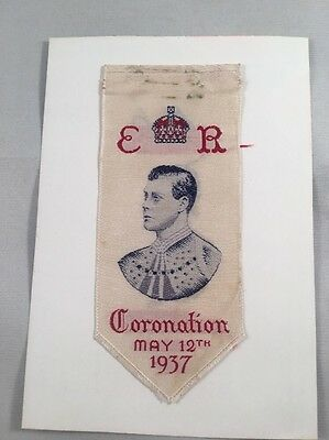 Edward VIII Coronation - Brough, Nicholson & Hall, Leek Woven Silk Bookmark