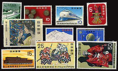 Japan Japon Giappone 1964-66 10 Stamps Different Mnh **