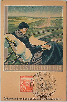 62731 -  SWITZERLAND - POSTAL HISTORY: MAXIMUM CARD 1945 - TUBERCULOSIS Medicine