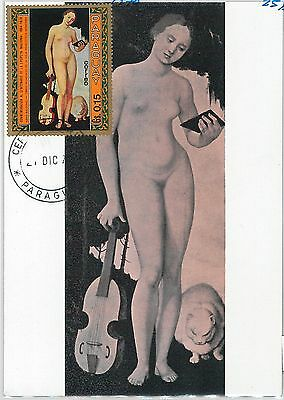 62749  - PARAGUAY - POSTAL HISTORY: MAXIMUM CARD 1970 - ART: Baldung MUSIC