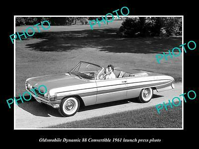 Old Large Historic Photo Of Oldsmobile 88 Convertible 1961 Launch Press Photo