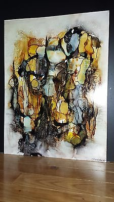 Original Abstract Alcohol Ink Paintings, Home Decor, Abstract Art