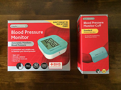 Lloyds Pharmacy Upper Arm Blood Pressure Monitor With Cuff Brand New in Box