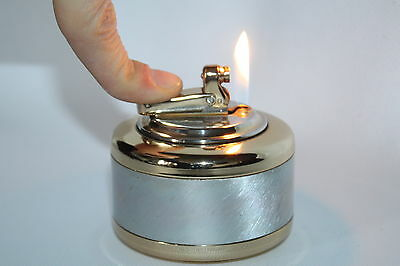 """Vintage  """"Colibri Monogas"""" Butane Table Lighter In Working Condition"""