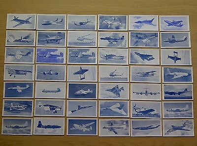 """39/50 x Osborne """"Modern Aircraft"""" (blue tint front) in very good condition"""