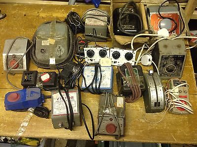Joblot Of Used Transformers Power Units Etc For Model Trains Etc Hornby Triang