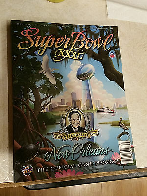 NFL Super Bowl XXXI 31 Game Program Green Bay Packers New England Patriots Favre