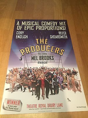 THE PRODUCERS REECE SHEARSMITH Theatre Royal Drury Lane Theatre poster
