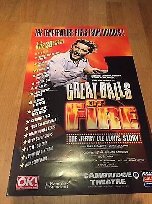 GREAT BALLS OF FIRE - THE JERRY LEWIS STORY, Cambridge  Theatre poster