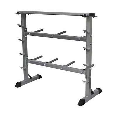 300kg Gym Weight Plate & Bar Rack Storage Stand Holder Dumbbell Barbell