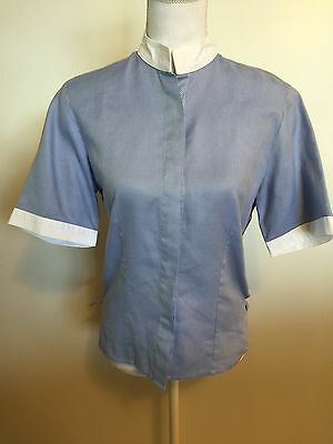 ANNA SCARPATI Blue Competition Show Shirt Ratcatcher Womens 46 Italy US 14