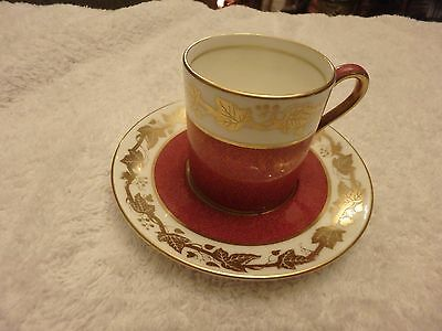 Wedgwood Coffee Can & Saucer - Whitehall Ruby