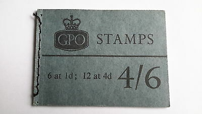 GB L70P 4/6 GPO Stitched Stamp Booklet Jan 1968 Slate-blue Cover, Phosphor Issue