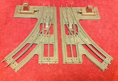 Vintage Pair Standard 3 Rail Right Left Track Switch Lionel 222 Illuminated AFL