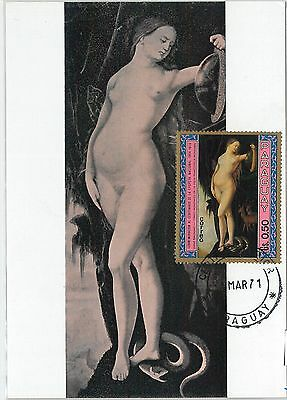 62751 - Paraguay - Postal History: Maximum Card 1971 - Art: Baldung