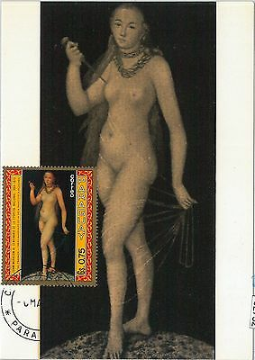 62752 - Paraguay - Postal History: Maximum Card 1971 - Art: Cranach