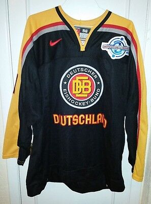 GAME READY Team Germany Marcel Goc Jersey 2004 World Cup w/ BAR CODE Size 56