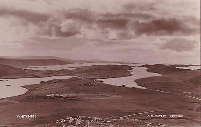 RP WHITENESS HOUSE HARBOUR  SHETLAND SCOTTISH ISLES RATTAR REAL PHOTO c1934
