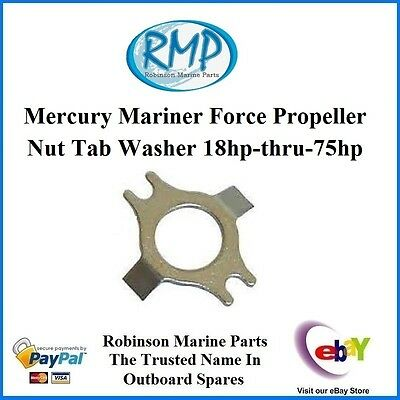 A New Mercury Mariner Force Propeller Nut Tab Washer 18hp-thru-75hp # 14-76281