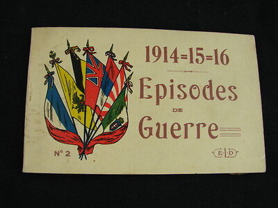 1914=15=16 Episodes De Guerre Ww1 Postcards Stunning Set